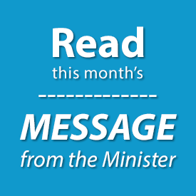 Read this month's message from our minister