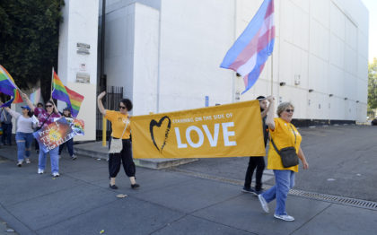 SUUS Members March on the Side of Love