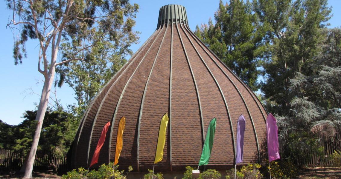Onion Facade with Rainbow Flags