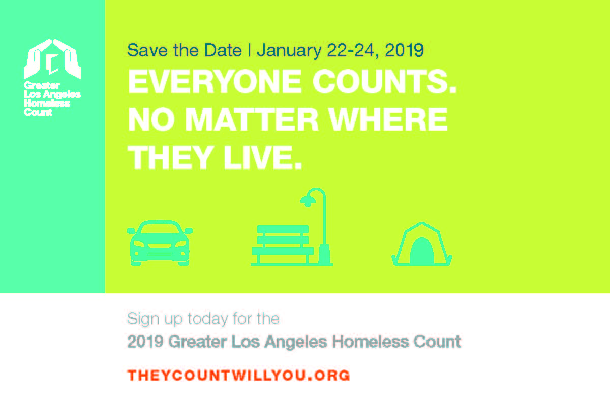 VOLUNTEERS NEEDED The Greater LA Homeless Count